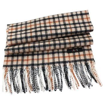 DAKS 經典格紋100%喀什米爾圍巾-3色