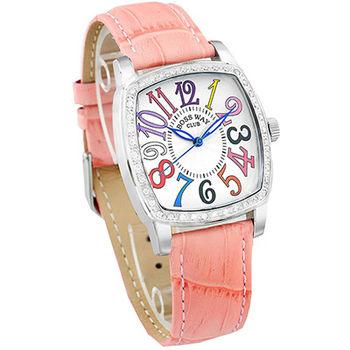 BOSSWAY TV SCREEN 晶鑽腕錶-30-34mm-粉紅