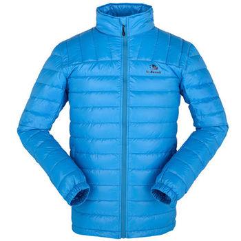 【聖伯納 St.Bonalt】男款防潑水立領羽絨外套-藍色(4072)