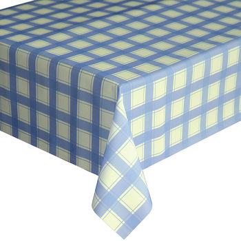 【巴芙洛】小格子藍色防水桌巾