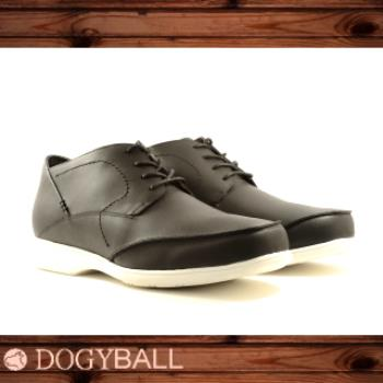 【DOGYBALL】James 休閒皮鞋(黑色)