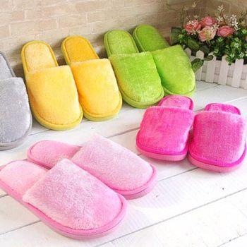 粉彩舒適保暖室內拖鞋(超值10雙)
