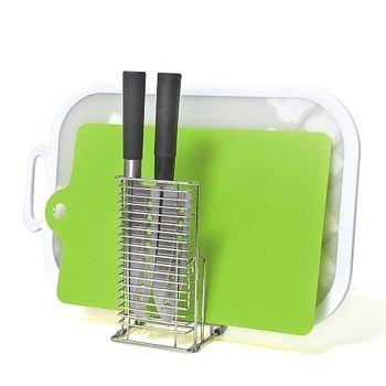 日本LEC兩用式不鏽鋼砧板刀具架