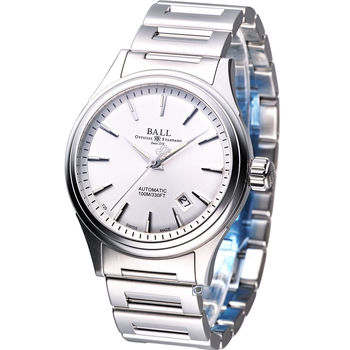 BALL Firman II 都會紳士機械錶 NM2098C-S3J-SL 白色