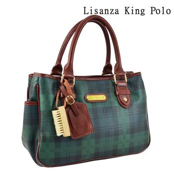 Lisanza King Polo 格紋多層手提包