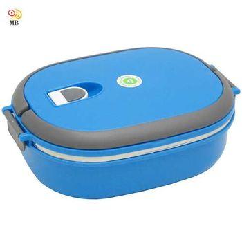 月陽18cm優質密封式保溫不鏽鋼便當盒飯盒(9707)