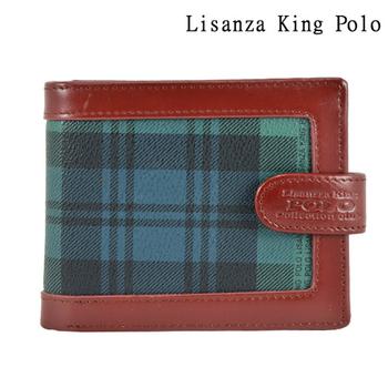 Lisanza King Polo 牛皮蛇扣短夾