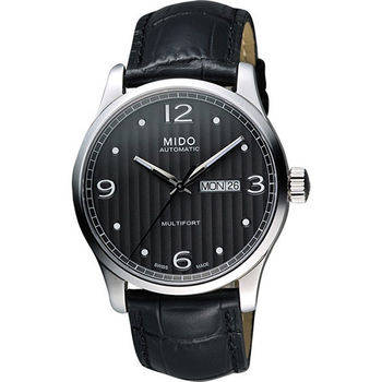 MIDO 美度 Multifort系列尊爵機械錶-黑灰  M0054301606000