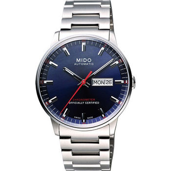 MIDO Commander II 天文台認證機械腕錶-藍  M0214311104100