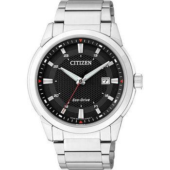 CITIZEN Eco-Drive 都會時尚光動能腕錶-黑x銀  BM7141-51E
