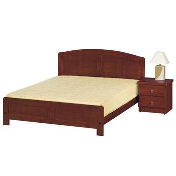 【時尚屋】[G15]柚木色5.2尺雙人床080-2(床頭+床架)