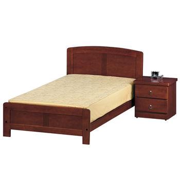 【時尚屋】[G15]柚木色3.7尺加大單人床080-1(床頭+床架)