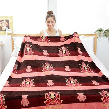 【BELLE VIE】經典泰迪圖騰版 授權保暖珊瑚絨毯-加厚版