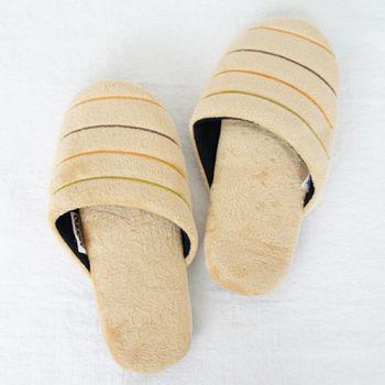 MORINO摩力諾舒柔絨毛室內拖鞋-米黃色