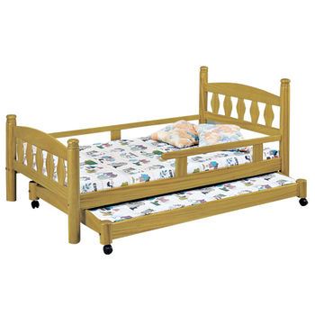 【時尚屋】[G15]烏心石3.7尺子母床070-1