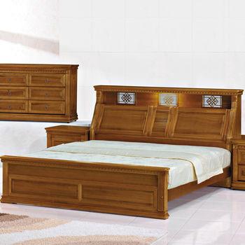 【時尚屋】[G15]悍馬樟木色5尺雙人床053-1(床頭+床架)