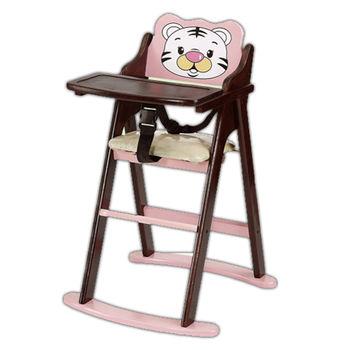【顛覆設計】卡哇伊巧虎折合兒童餐椅(全實木)