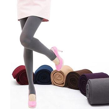 【Olivia】天鵝絨保暖刷毛內搭褲/保暖內搭褲/踩腳褲 7色