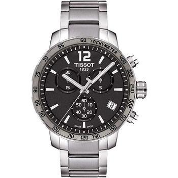 TISSOT T-Sport Quickster 競速運動計時腕錶-灰x銀  T0954171106700