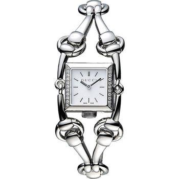 GUCCI Signoria 馬銜鍊真鑽女錶-珍珠貝  YA116505