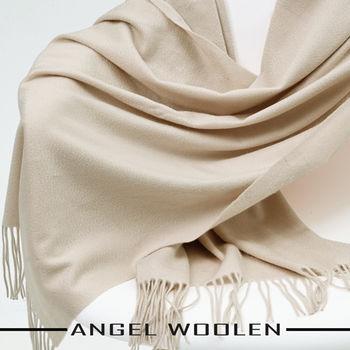 【ANGEL WOOLEN】CASHMERE厚披肩(淺駝色)