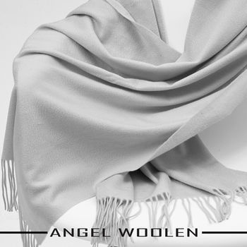 【ANGEL WOOLEN】CASHMERE厚披肩(灰色)