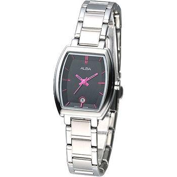 ALBA 經典酒桶造型系列女腕錶-黑色錶盤(AH7663X1)