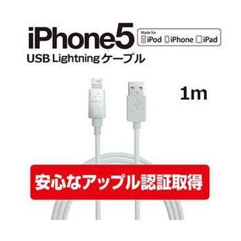 日本AIR'J Apple Lightning 8Pin MFI傳輸充電線 1米