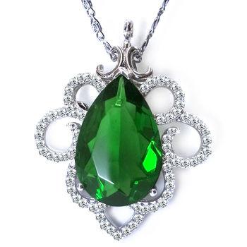 美帝亞 綠意之春-水滴型綠曜石項鍊胸針 (預購)