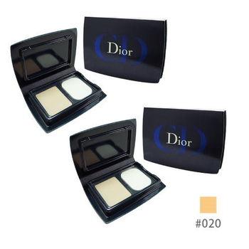 《Christian Dior 迪奧》光柔恆色水潤精華粉餅3g*2入(色號#020)粉嫩膚色