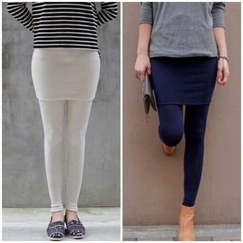 Bubble❤CoCo韓國東大門雙層優質棉假兩件包臀裙褲(五色)LB75預