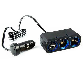【YAC】12V延長線兩孔附USB插座 (PZ-610/車充/充電/擴充/轉換器)