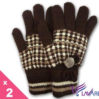 Lavender-圍巾手套IN STYLE超值2+1入組