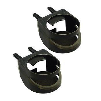 【YAC】簡易型2入冷氣孔杯架 (PZ-384/車用/汽車/飲料架/置物架)