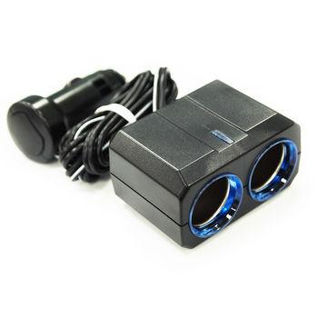 【YAC】冷光移動式雙孔插座 (PZ-363/車充/充電/擴充/轉換器)