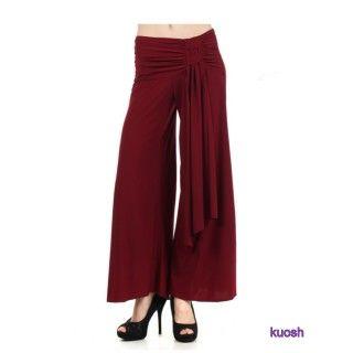 【Kuosh】美國進口簡約時尚寬版長褲(現貨+預購)NW-4102