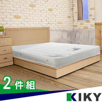 KIKY莉亞木色房間組雙人5尺(床頭片+床底)