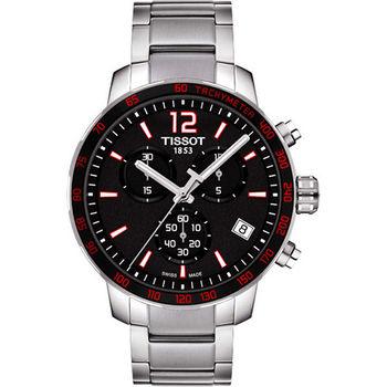 TISSOT T-Sport Quickster 競速運動計時腕錶-黑x紅  T0954171105700