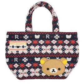 San-X 拉拉熊戀戀針織系列棉織手提袋