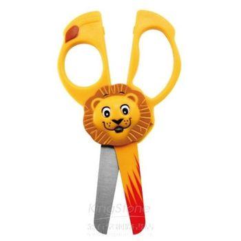 威思卡動物造型兒童剪刀2入(猴子、斑馬、老虎、獅子、大象、長頸鹿任選)