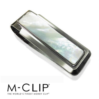 美國設計品牌 - M-CLIP 鈔票夾 - 限量天然白色珍珠貝