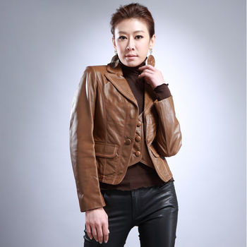 IKON簡約率性西裝領小羊皮背心夾兩件式外套