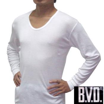 【BVD】時尚型男厚棉U領長袖衛生衣~3件組828