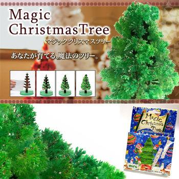 DIY 神奇魔法開花成長聖誕樹+滿天星空立體夜光組 (50顆星星+1顆月亮)