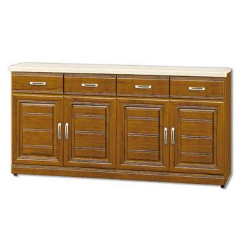 【顛覆設計】達雷爾樟木色實木5.3尺石面餐櫃