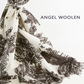 【ANGEL WOOLEN】松語寄情pashmina披肩(黑)
