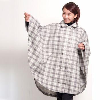 日本namelessage無名世代中性款多功能造型雨衣(灰格/藍/綠)_0P024