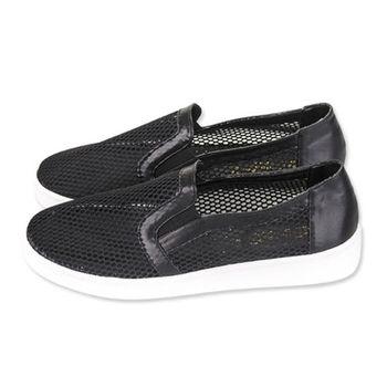 FUFA 透視感網格懶人鞋(N09) - 黑色