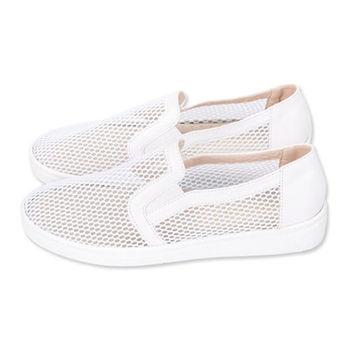 FUFA 透視感網格懶人鞋(N09) - 白色