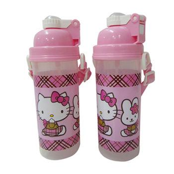 【Hello Kitty】背帶式彈跳水壺(700cc)二入組